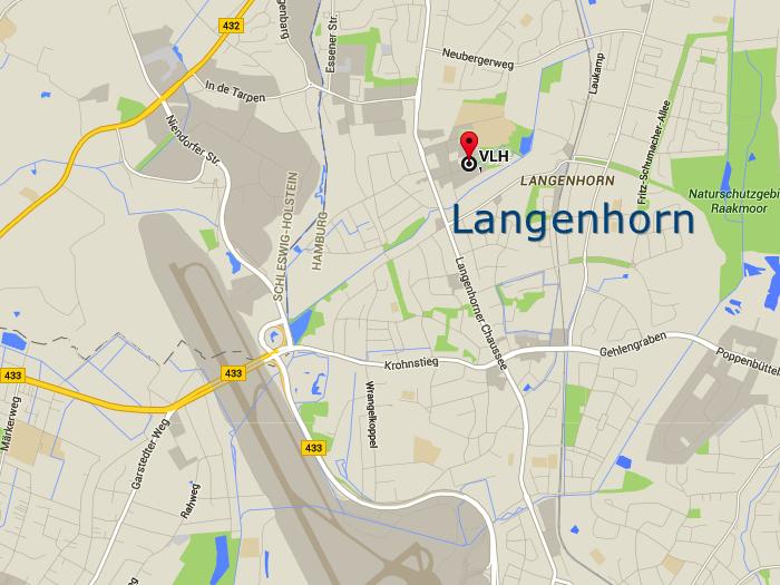 hamburg langenhorn karte Anfahrt VLH Beratungsstelle Oeheckerring 13